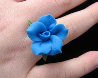 Bright Blue Adjustable Ring