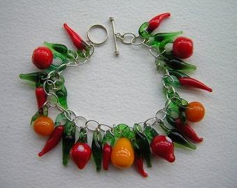 Juicy fruit sterling bracelet