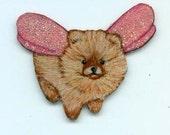Tiny Pomeranian Fairy Pin