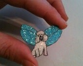 Poodle Fairy Pin