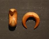 0 gauge lilac earrings by BRYAN