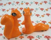 a pair of sweet vintage squirrels