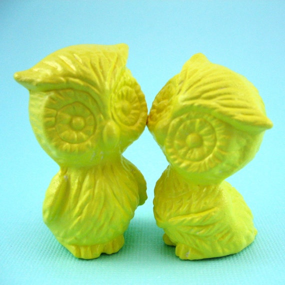 ceramic retro Owls so cute