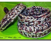 Tisket, Tasket-Crochet Me a Basket Crocheted Basket Pattern