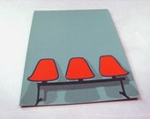herman miller airport-chair postcard