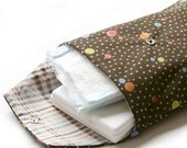 Spottie Dottie diaper pouch (with check pattern)