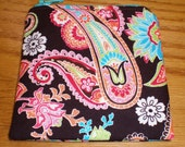 Small Coin Zip Pouch Michael Miller Paisley Sale Flawed