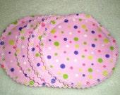 Washable Nursing Breastfeeding Pads Pink Dots 2 Pair