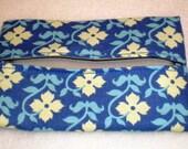 Pocket Travel Tissue Holder Cozy Blue Flowers
