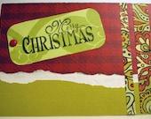 BLACK FRIDAY SALE Christmas Card - Traditional Merry Christmas