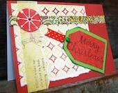 BLACK FRIDAY SALE Christmas Card - Merry Christmas Tag