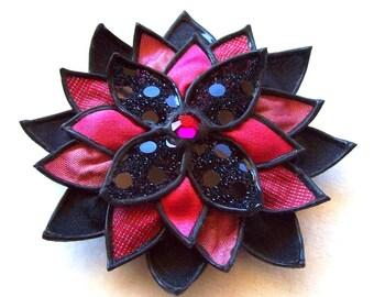 Hot Stuff Dahlia - brooch/headband