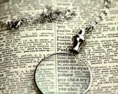 Silver Monocle Necklace