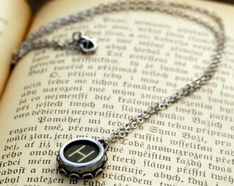 Vintage Typewriter Key Necklace- H