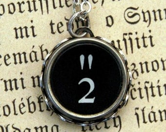 Vintage Typewriter Key Necklace- 2