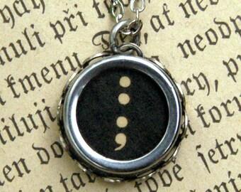 Vintage Typewriter Key Necklace- Pick a Letter Number or Symbol