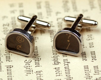 Typewriter Key Cufflinks- Pick your letters / symbols