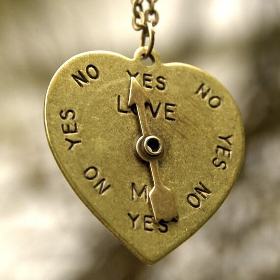 50s Spinner Heart- Brass