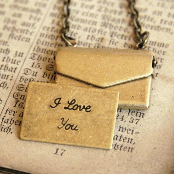 Little Brass Love Letter Necklace