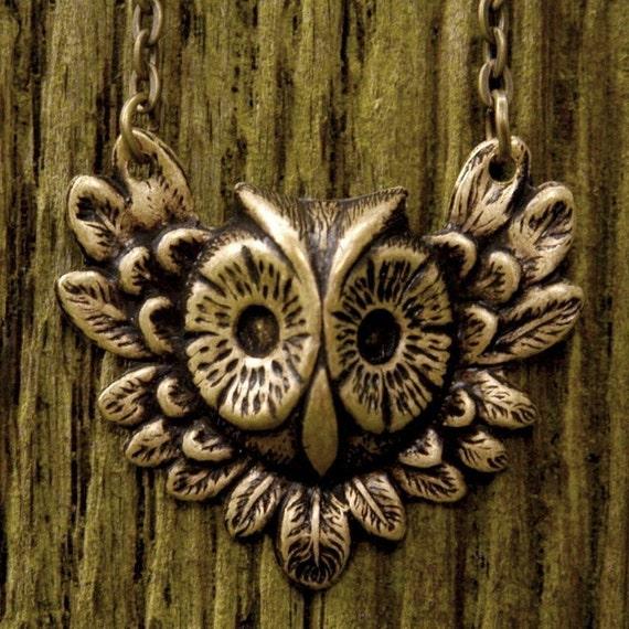 Brass Feathery Owl