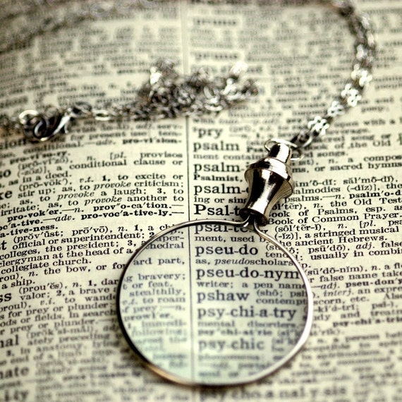 Silver Monocle Necklace