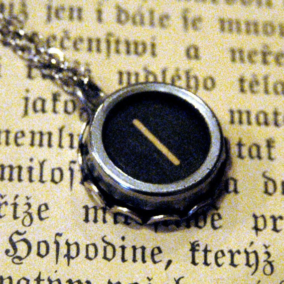 Vintage Typewriter Key Necklace- I