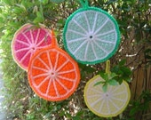 fruity potholders (set of 4)