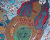 Tierra Madre Mother Earth Tile Retablo HOLD for Nazira