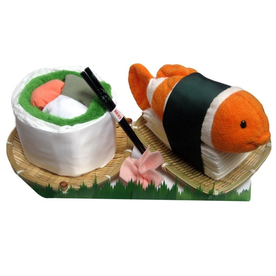 Custom for YOU - Diaper Sushi for Baby (C) - Etsy Collaboration with LuLusWoobies