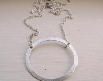 Grain - Small Sterling Circle Necklace
