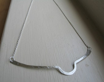Curve - Forged Sterling Silver Necklace