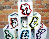 ABC Blocks Graffiti Baby Blocks Alphabet Blocks Rockin' Blocks  by beebles