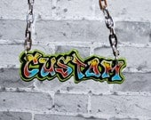 Graffiti Jewelry TAG'D Custom Personalized Nameplate Necklace Hip Hop Street Wear Urban Fashion by beebles