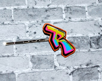 Graffiti Initial Bobby Pin by beebles