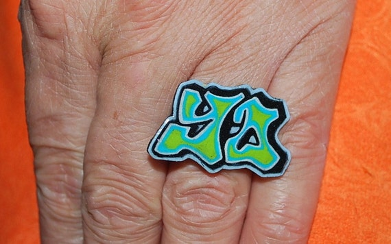 YO Graffiti ring by beebles