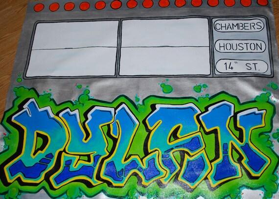 Custom Graffiti Subway Car Mural