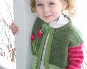 Toddler girl's recycled vintage sweater and headband