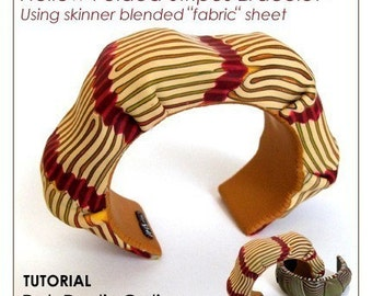 "Polymer clay tutorial, Bracelet tutorial, Cuff, HOLLOW beads tutorial | ""Hollow Stripes"" Millefiori canes project 