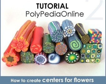 Polymer clay tutorial, Millefiori canes, MILLEFIORI tutorial, millefiore canning | 10 Polymer clay millefiori canes | 29 pages PDF | Vol 2