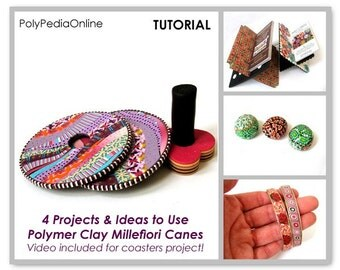 Polymer clay tutorials, Polymer clay tutorial millefiore | Use Millefiori Canes | Millefiori Celebration Part 1 | 38 Pages PDF | Vol 21