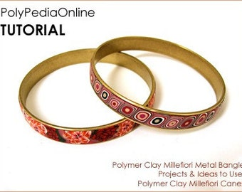 Polymer clay tutorial, Millefiori canes, Millefiore tutorial | Bracelet, Bangle, Millefiori canes channel bracelet | 10 pages PDF | Vol 21