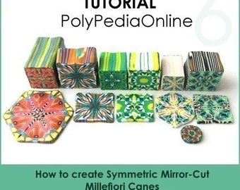 Polymer clay tutorial, Polymer clay KALEIDOSCOPE millefiori canes tutorial, How to polymer clay canes, Millefiore |  56 pages PDF | Vol 6