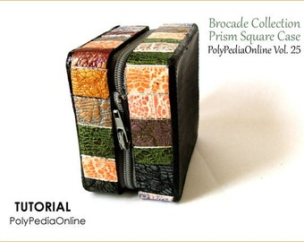 """Polymer Clay Tutorial Purses & Bags - """"Brocade Collection"""" Wearable Art Purses - 43 pages, 8 Videos and a KIT by Iris Mishly - E-Book Vol 25"""