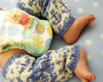 Anchors Aweigh Leg Warmers for Babies - Knitting Pattern