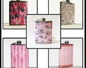 Pretty in Pink  - Bridal / Bachelorette Party  - 4 Flask Set