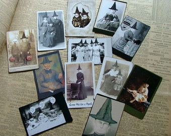 set 5 of witches cabinet trading cards