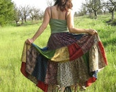 Patchwork skirt, women and men, plus size skirt, unisex skirt, indian prints, handmade
