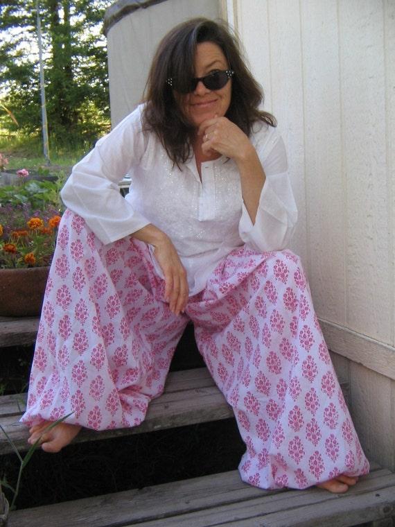 Turkish Harem Pants Choose your India Print Fabrics