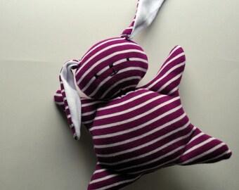 Purple Mooshy Belly Bunny