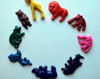 Animal Molded Crayons Made from Recycled Crayons